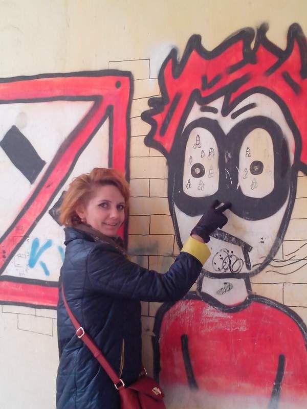 Юлька и графити